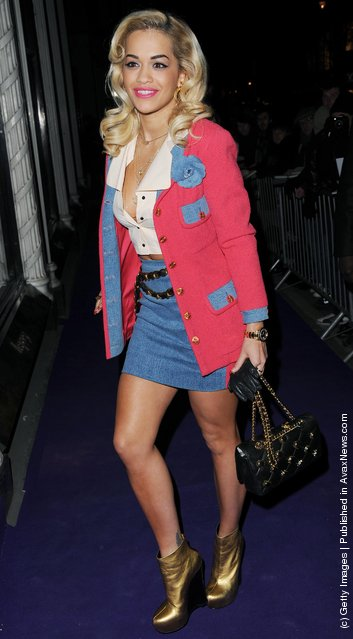 Rita Ora attends the BAFTA nominees party at Asprey London