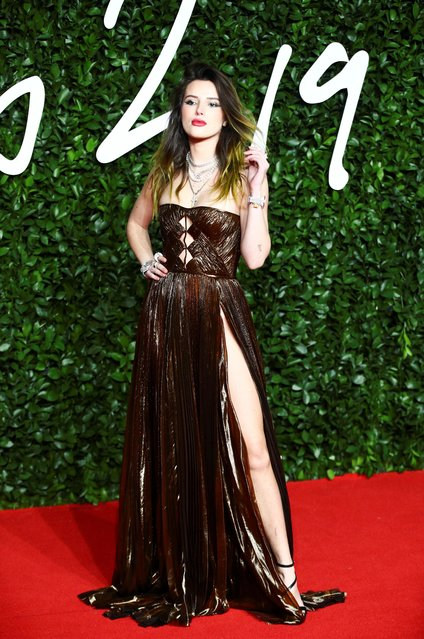 Bella Thorne arrives at The Fashion Awards 2019 held at Royal Albert Hall on December 02, 2019 in London, England. (Photo by Lisi Niesner/Reuters)