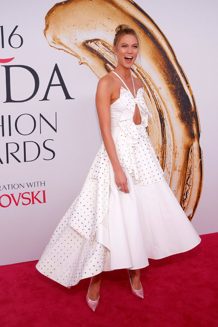 Model Karlie Kloss arrives for the 2016 CFDA Fashion Awards in Manhattan, New York, U.S., June 6, 2016. (Photo by Andrew Kelly/Reuters)