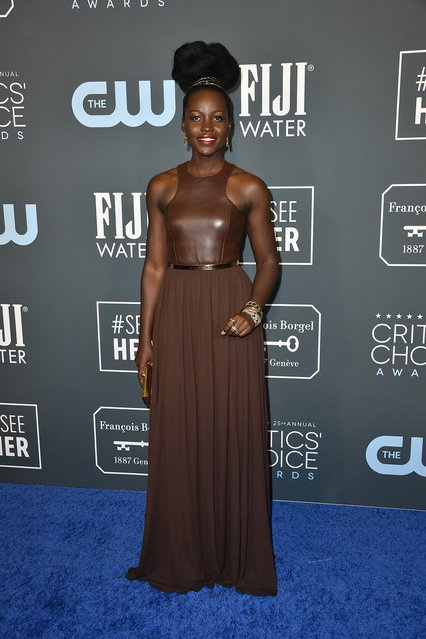 Lupita Nyong'o attends the 25th Annual Critics' Choice Awards at Barker Hangar on January 12, 2020 in Santa Monica, California. (Photo by Frazer Harrison/Getty Images)