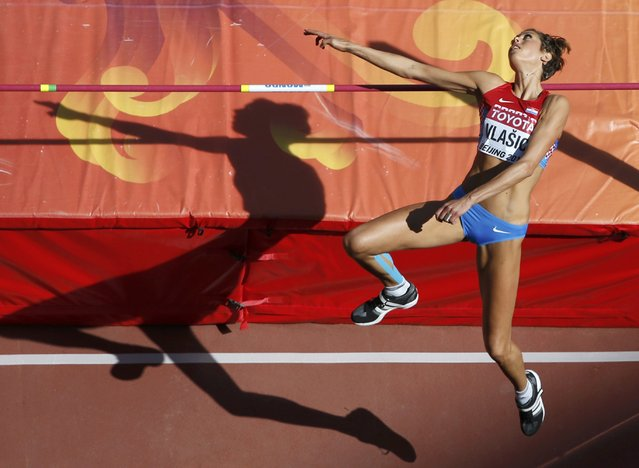 Blanka Vlasic of Croatia competes in the women's high jump qualifying round during the 15th IAAF World Championships at the National Stadium in Beijing, China, August 27, 2015. (Photo by Kim Kyung-Hoon/Reuters)