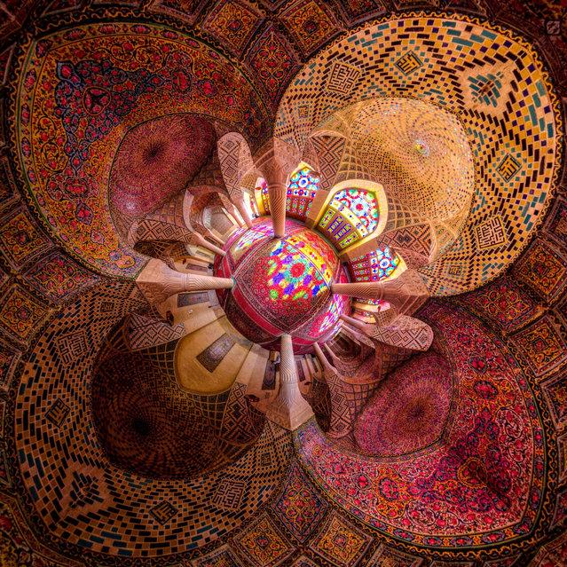 "The Nasir al-mulk or ""Pink"" mosque in Shiraz, Iran. (Photo by Mohammad Reza Domiri Ganj)"