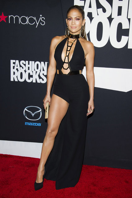 Jennifer Lopez attends Fashion Rocks on Tuesday, September 9, 2014 at the Barclays Center in the Brooklyn borough of New York. (Photo by Charles Sykes/Invision/AP Photo)
