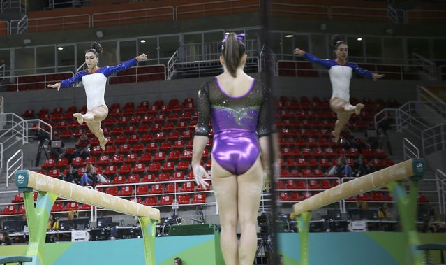 2016 Rio Olympics, Gymnastics training, Rio Olympic Arena, Rio de Janeiro, Brazil on August 4, 2016. Houry Gebeshian (ARM) of Armenia trains on the beam. (Photo by Damir Sagolj/Reuters)