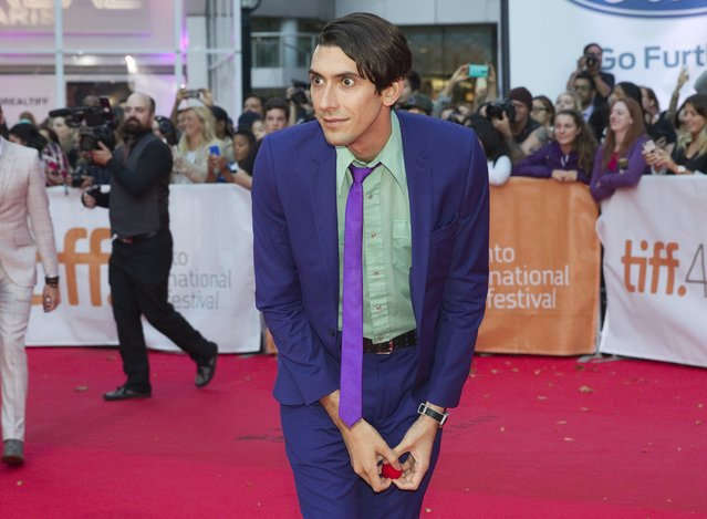 "Writer Max Landis arrives for the premiere of the movie ""Mr. Right"" during the 40th Toronto International Film Festival in Toronto, Canada, September 19, 2015. (Photo by Fred Thornhill/Reuters)"