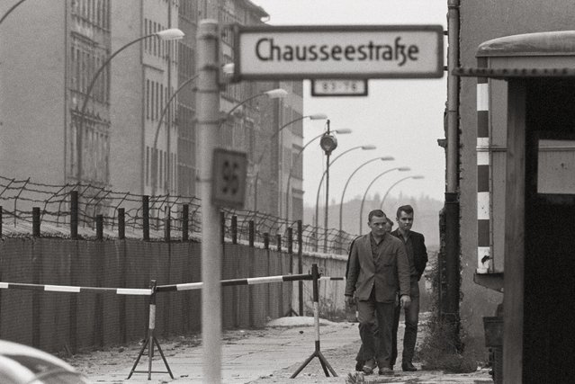 The Berlin wall at Chausseestrasse is pictured in 1961. (Photo by Imagno/Getty Images)
