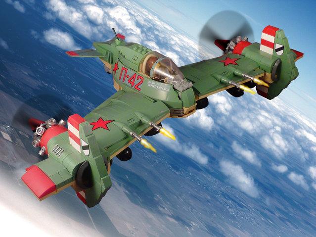 """Captain Sergei Kutakhov in his D-74 Partisan fighter-bomber"". (Jon Hall)"