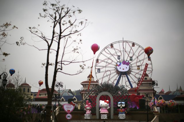The entrance of a Hello Kitty amusement park is seen in Anji, Zhejiang province November 28, 2014. (Photo by Carlos Barria/Reuters)