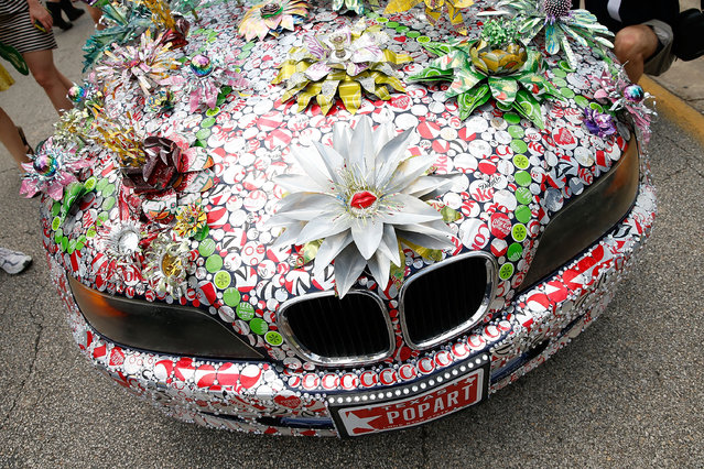 An art car is seen on Allen Parkway during the 26th Annual Houston Art Car Parade on May 11, 2013 in Houston, Texas.  (Photo by Scott Halleran/Getty Images)