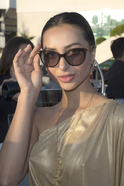 Golshifteh Farahani attends the Planet Fashion TV and Laurent Perrier Cocktails and Couture Soiree with Transitions Lenses at the 71st international film festival, Cannes, southern France, Saturday, May 12, 2018. (Photo by Planet Fashion TV/AP Images)