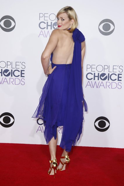 "Actress Beth Behrs, from the CBS sitcom ""2 Broke Girls"", arrives at the 2015 People's Choice Awards in Los Angeles, California January 7, 2015. (Photo by Danny Moloshok/Reuters)"