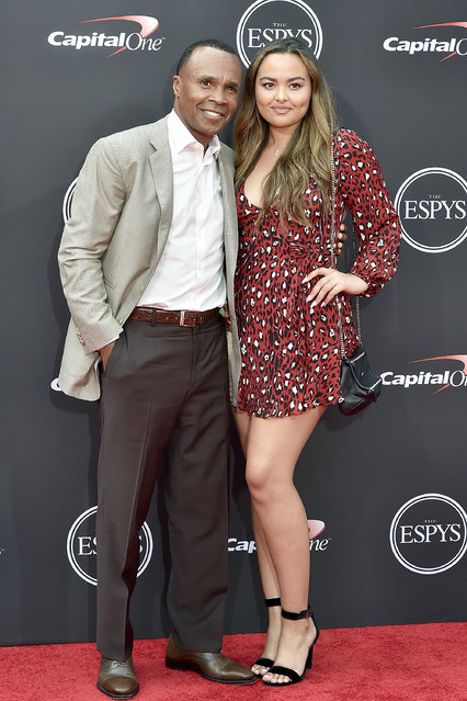 Sugar Ray Leonard and Camille Leonard attend The 2018 ESPYS at Microsoft Theater on July 18, 2018 in Los Angeles, California. (Photo by David Crotty/Patrick McMullan via Getty Images)