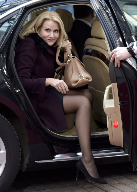 Denmark's Prime Minister Helle Thorning-Schmidt arrives to attend an European Union leaders summit in Brussels, February 12, 2015. (Photo by Eric Vidal/Reuters)