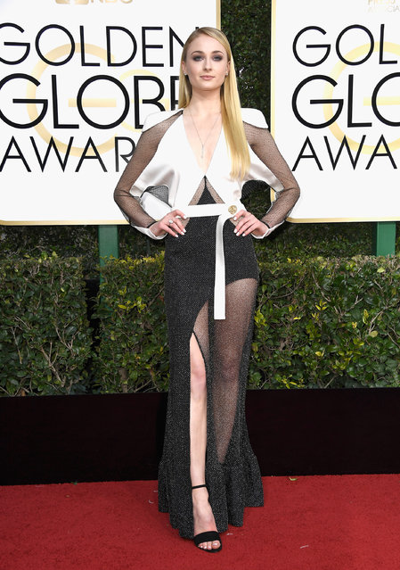 Actress Sophie Turner attends the 74th Annual Golden Globe Awards at The Beverly Hilton Hotel on January 8, 2017 in Beverly Hills, California. (Photo by Frazer Harrison/Getty Images)