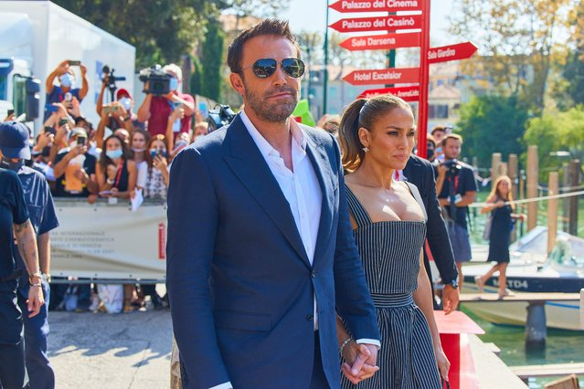Ben Affleck and Jennifer Lopez at the 78th Venice Film Festival in Venice, Italy on September 10, 2021. (Photo by Action Press/MediaPunch)