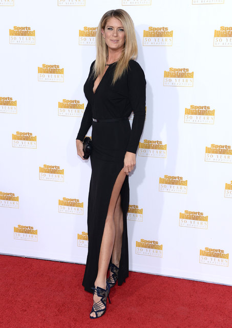 Model Rachel Hunter attends NBC and Time Inc. celebrate the 50th anniversary of the Sports Illustrated Swimsuit Issue at Dolby Theatre on January 14, 2014 in Hollywood, California. (Photo by Dimitrios Kambouris/Getty Images)