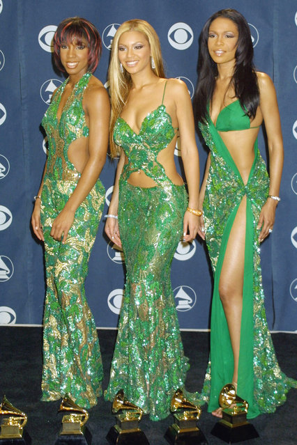 Destiny's Child with their Awards 2001 Grammy; Awards in LA on February 21, 2001. (Photo by Vinnie Zuffante/Getty Images)