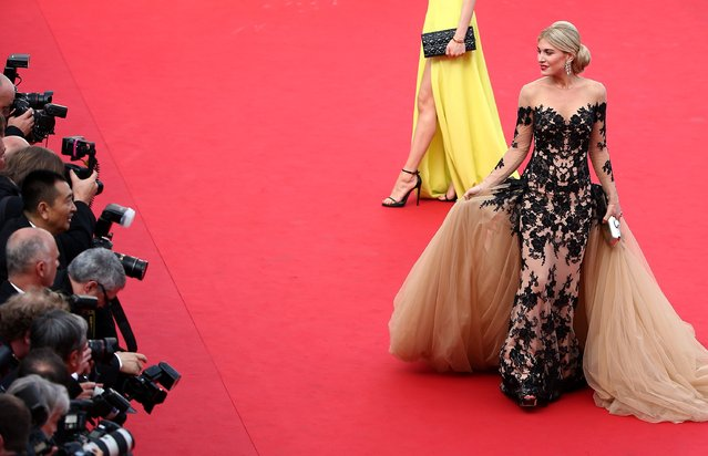 """Hofit Golan attends the opening ceremony and premiere of """"La Tete Haute"""" (Standing Tall) during the 68th annual Cannes Film Festival on May 13, 2015 in Cannes, France. (Photo by Andreas Rentz/Getty Images)"""