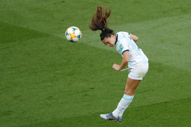 Agustina Barroso of Argentina in action during the 2019 FIFA Women's World Cup France group D match between Argentina and Japan at Parc des Princes on June 10, 2019 in Paris, France. (Photo by Gonzalo Fuentes/Reuters)
