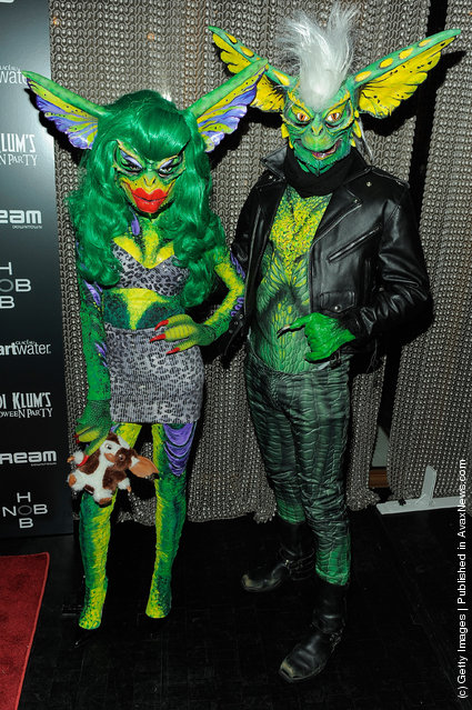 Phillipe & David Blond attend Heidi Klum's 12th annual Halloween party