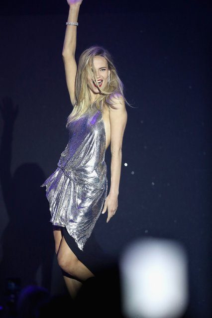 Natasha Poly  appears on stage at the amfAR's 23rd Cinema Against AIDS Gala at Hotel du Cap-Eden-Roc on May 19, 2016 in Cap d'Antibes, France. (Photo by Andreas Rentz/Getty Images)