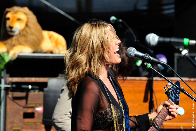 Musician Grace Potter of the band Grace Potter and the Nocturnals performs during Coachella 2012, on April 14, 2012