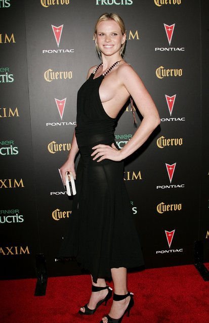 Model Anne V attends Maxim Magazine's 7th Annual Hot 100 party at Buddha Bar May 17, 2006 in New York City