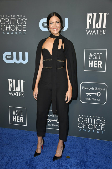 Mandy Moore attends the 25th Annual Critics' Choice Awards at Barker Hangar on January 12, 2020 in Santa Monica, California. (Photo by Frazer Harrison/Getty Images)