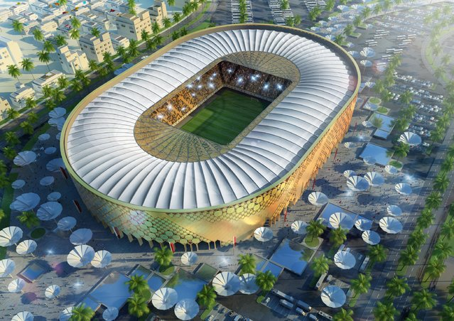 In this handout image supplied by Qatar 2022  The Qatar University stadium is pictured in this artists impression as Qatar 2022 World Cup bid unveils it's stadiums on September 16, 2010 in Doha, Qatar. (Photo by Qatar 2022 via Getty Images)