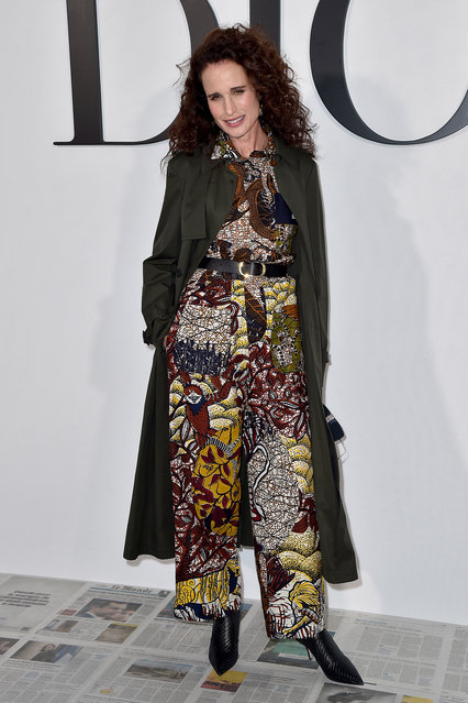 Andie MacDowell attends the Dior show as part of the Paris Fashion Week Womenswear Fall/Winter 2020/2021 on February 25, 2020 in Paris, France. (Photo by Dominique Charriau/WireImage)
