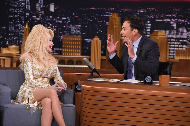 "Dolly Parton Visits ""The Tonight Show Starring Jimmy Fallon"" at Rockefeller Center on August 23, 2016 in New York City. (Photo by Theo Wargo/Getty Images for NBC)"