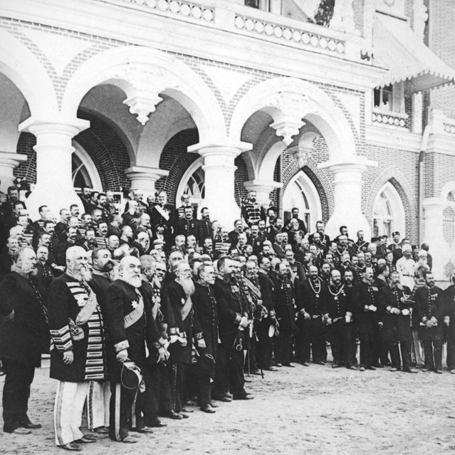 Foreign ministers in Moscow for the coronation of Tsar Nicholas II, May 1896.