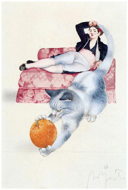 Spanische Katze. Artwork by Michael Mathias Prechtl