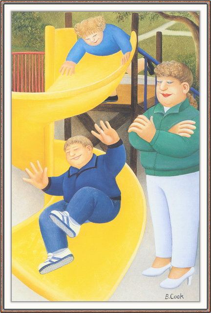 Playground Slide. Artwork by Beryl Cook