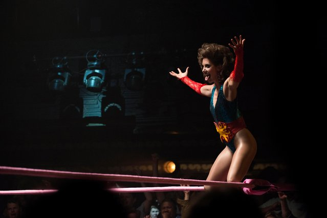"Alison Brie hosts in the Netflix comedy-drama""Glow"" Season 1 TV Series, 2017. (Photo by Erica Parise/Netflix/Kobal/Rex Features/Shutterstock)"