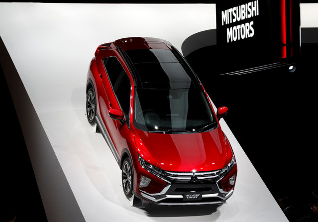 Mitsubishi Motors displays the company's Eclipse Cross during media preview of the 45th Tokyo Motor Show in Tokyo, Japan on October 25, 2017. (Photo by Kim Kyung-Hoon/Reuters)