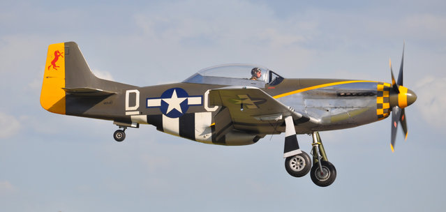 """North American TF-51D - NX251RJ / CY-D 44-84847 """"Miss Velma"""" – Flying Legends Airshow 2012 Duxford. Built too late to see combat service in World War Two, P-51D 44-84847 was one of the last Mustangs constructed at North American Aviation's Dallas, Texas, plant. Details of her post war service career are limited, but there is photographic evidence, from September 1951, of her serving with the 45th Tactical Reconnaissance Squadron at Kimpo, South Korea, during the Korean War. (Rob Lovesey)"""