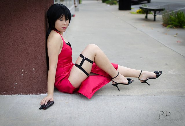 Ada Wong from the videogame series Resident Evil. Model: Liz. (Photo by Brock Parsons)