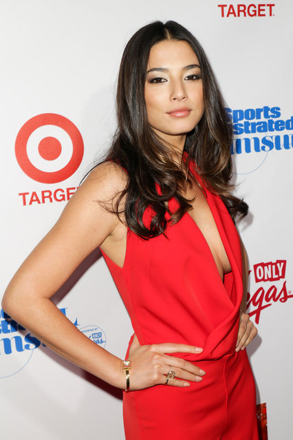 Jessica Gomes attends the 2013 Sports Illustrated Swimsuit launch party at Crimson on February 12, 2013 in New York City. (Photo by Henry S. Dziekan III/WireImage)