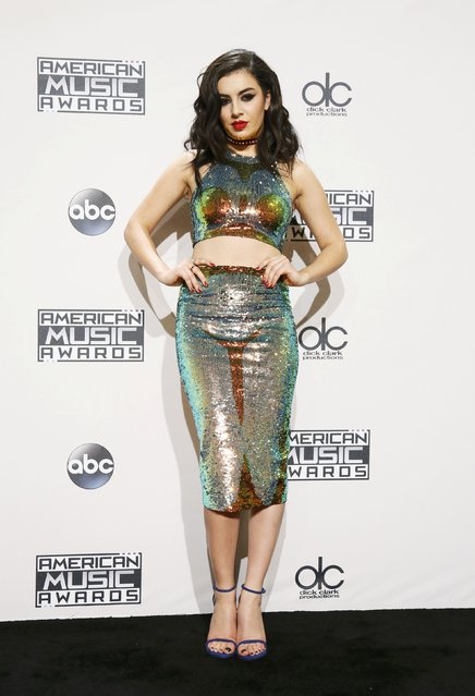 Singer Charli XCX poses backstage during the 42nd American Music Awards in Los Angeles, California November 23, 2014. (Photo by Danny Moloshok/Reuters)