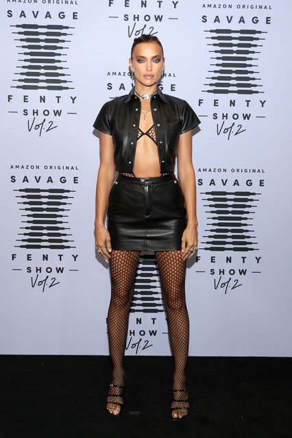 Irina Shayk attends Rihanna's Savage X Fenty Show presented by Amazon Prime Video at Los Angeles Convention Center on September 13, 2020 in Los Angeles, California. (Photo by Jerritt Clark/Getty Images for Savage X Fenty Show Presented by Amazon Prime Video)