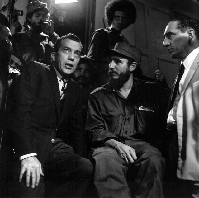 Fidel Castro talks with Ed Sullivan, television variety show host and N.Y. Daily News columnist, January 6, 1959. (Photo by Harold Valentine/AP Photo)