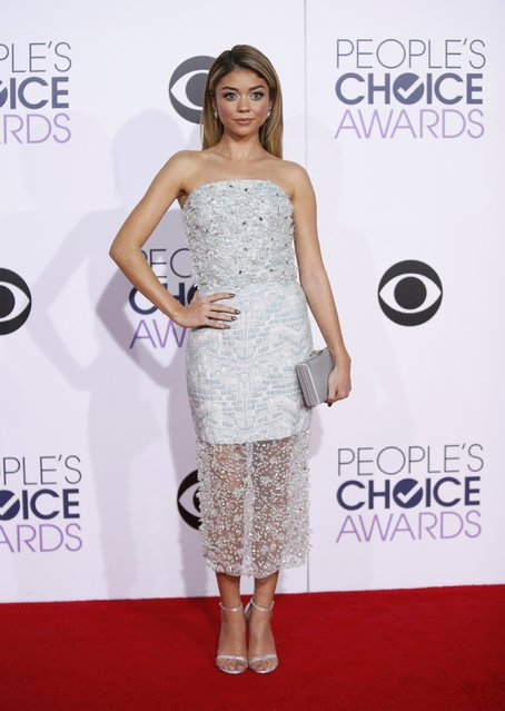 Actress Sarah Hyland arrives at the 2015 People's Choice Awards in Los Angeles, California January 7, 2015. (Photo by Danny Moloshok/Reuters)