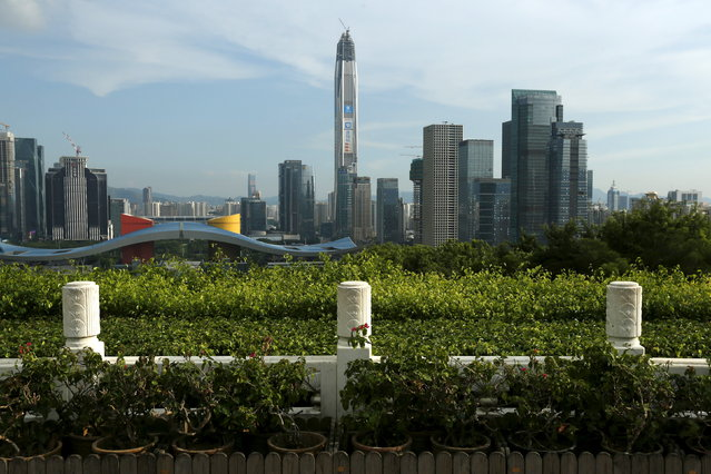 4: The Ping An International Finance Centre in Shenzhen, China is fourth. Height: 1,965 ft. (Photo by Bobby Yip/Reuters)