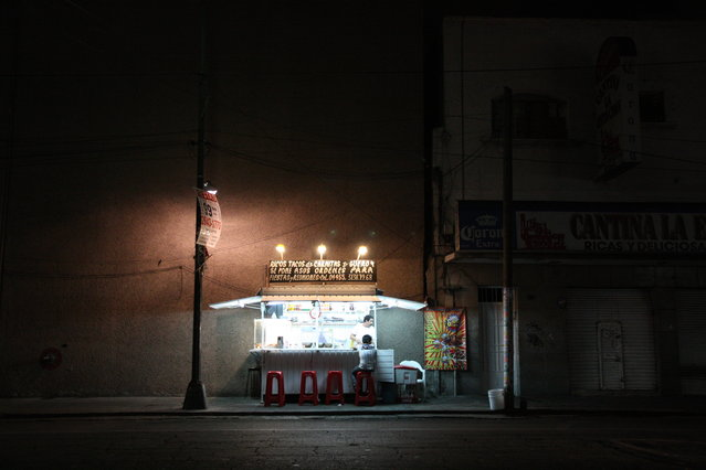 """Lone Taco"". After checking out a luche libre fight in Mexico City, what else to do but eat some classic, delicious tacos. Mexican street stands, best food in the world. (Photo and caption by Amy Croucher/National Geographic Traveler Photo Contest)"