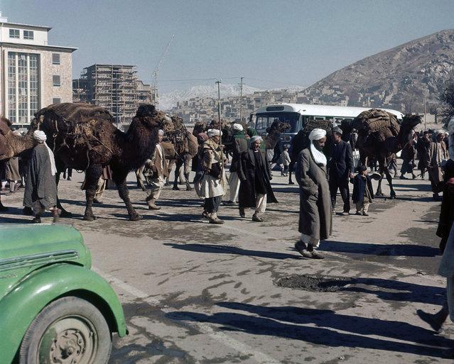 Street scene in Kabul, Afghanistan in November, 1961. (Photo by Henry Burroughs/AP Photo via The Atlantic)