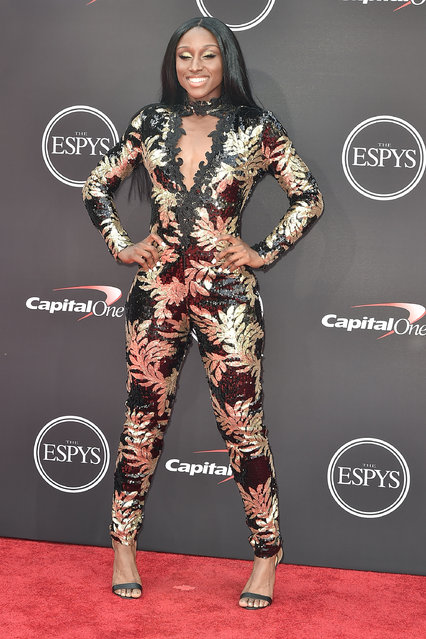 AJ Andrews attends The 2018 ESPYS at Microsoft Theater on July 18, 2018 in Los Angeles, California. (Photo by David Crotty/Patrick McMullan via Getty Images)