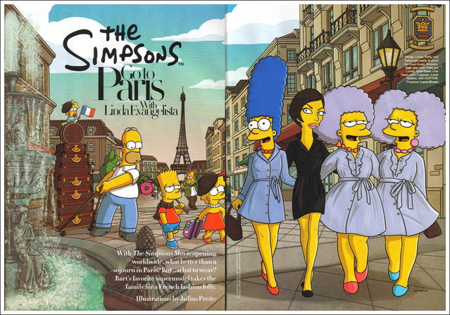 The Simpsons Go To Paris