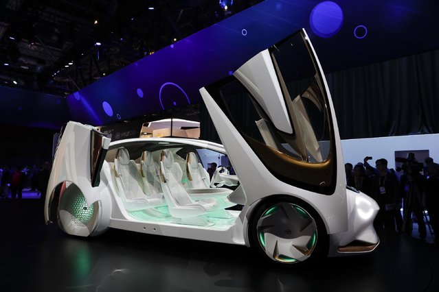 The Toyota Concept-i is on display at CES International Thursday, January 5, 2017, in Las Vegas. (Photo by Jae C. Hong/AP Photo)