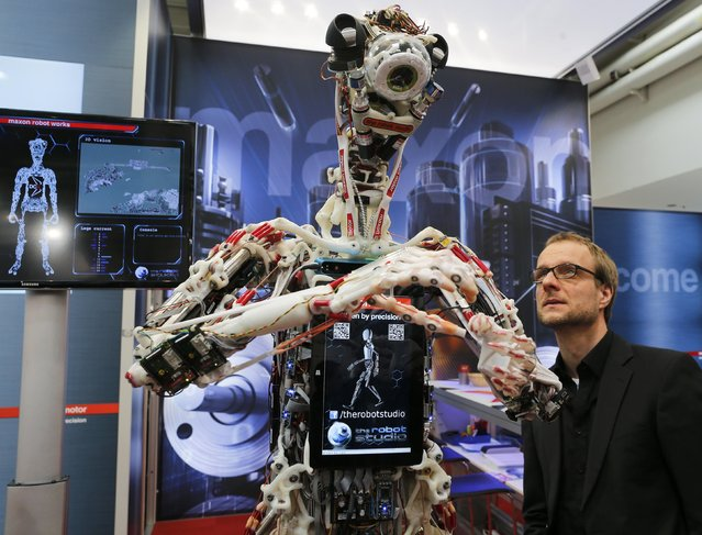 A robot Ecce by the Robot studio is pictured at the world's largest industrial technology fair, the Hannover Messe, in Hanover April 13, 2015. (Photo by Wolfgang Rattay/Reuters)